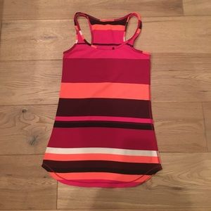 Lululemon striped racerback tank size 4!