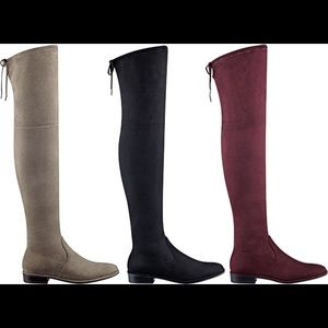 Marc Fisher Humor Over The Knee Boot suede