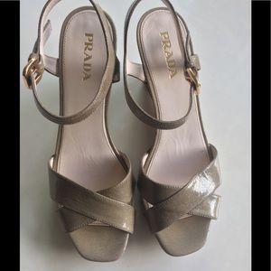 Prada Calzature Donna Wedge Sandals size 38/7.5