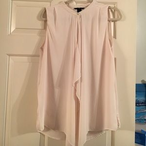 H&M cream high-neck Blouse - size 12
