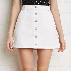 White button down denim skirt never worn