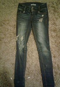 Ripped, distressed jeans