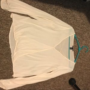 White blouse from Forever 21, worn only once