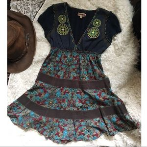 free people shirt dress🔸 boho Gypsy hippie