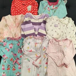 Carters 8 Piece Winter Pajama Bundle
