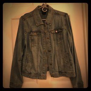 Women's size large denim jacket