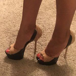 Bebe platform heels - beautiful cork detail