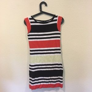 French Connection white and red stripe dress