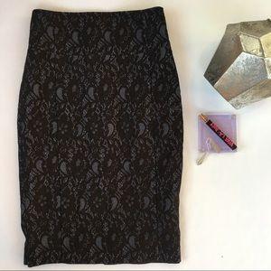 Stretch lace EXPRESS pencil skirt sz. 0