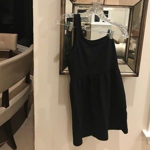 Black Zara one shouldered dress
