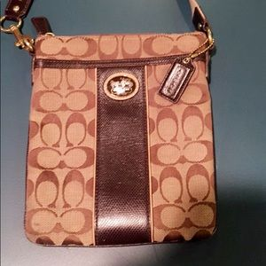Coach Logo Light brown Cross body