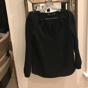 Zara long sleeved cutout blouse