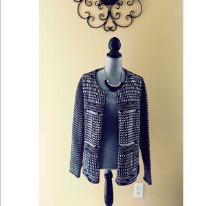 H&M black and white dress sweater/jacket.