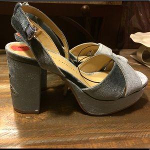 Chinese laundry light blue heels
