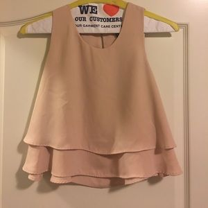 Forever 21 blush crop, size M.
