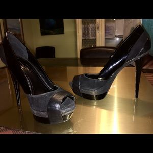 Jessica Simpson Black Platform Heels Sz 10