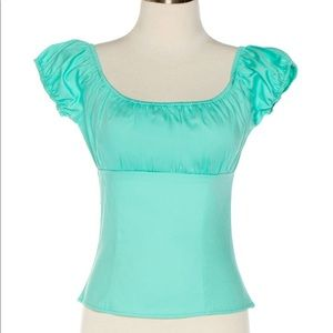 Size XL mint peasant top pinup couture