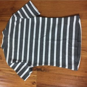 Striped turtleneck type shirt