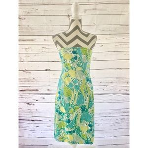LILLY PULITZER White Label Vegetable Print Dress