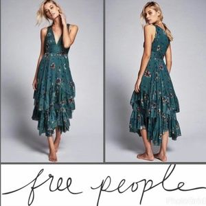 Free People 'Catching Glances' Tiered Floral Dress