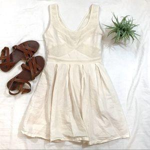 AE Cream Eyelet Dress