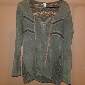BOHO hippie intricate blouse