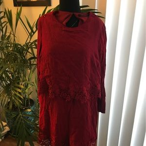 Red Zara romper