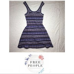 Free People Fair Isle Fit and Flare Sweater Dress