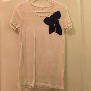 J. Crew Ribbon Detail Tee