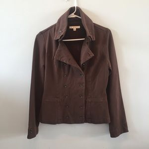 Cabi brown jacket button front