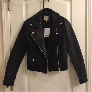 NWT Urban Outfitters Black Vegan Leather Jacket