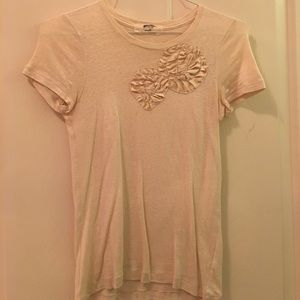 J. Crew Satin Ribbon Detail Tee