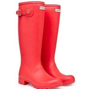 Bright Coral, matte. Tall Hunter Rain Boots