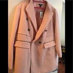 Torrid Blush Wool Midi Coat, Size 3