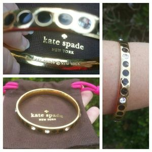 Kate Spade Spot The Spade Black Gold Bangle