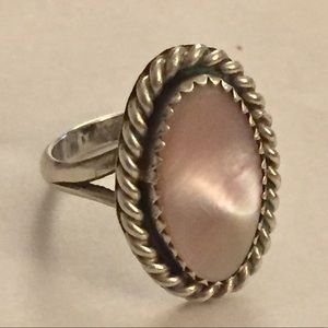 Vintage Native American MOP Ring Sterling silver