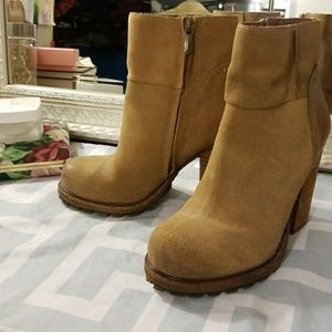 Sam Edelman Tan Suede Leather Boots