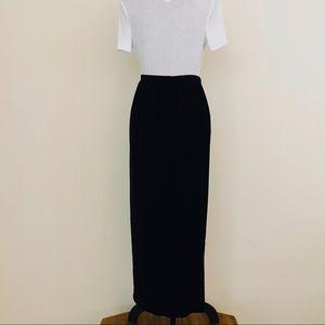 e42f109ff8416 Vintage Skirts - 🆕 Vintage 80s Black Velvet Plus Size Maxi Skirt