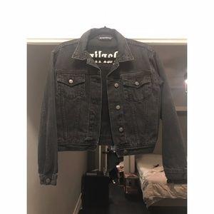 Rare Brandy Melville Darling Black Denim Jacket