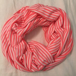 Gap Neon Pink and White Scarf