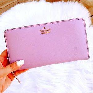 Kate Spade Lilac Purple Continental Zip Wallet