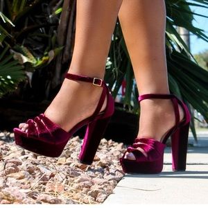 Stunning Cranberry Platform High Heels