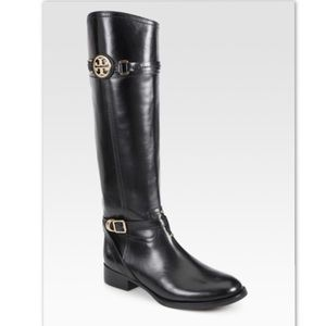 Tory Butch Calista riding boot in black