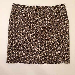 Leopard Skirt with Pockets