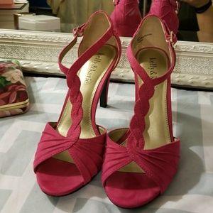 Kelly & Katie Shoes - Kelly & Latie Fuschia Pink D'orsay Heels