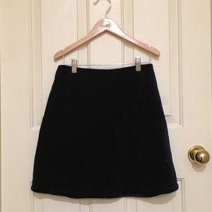 Dark Navy Velvet Mini Skirt (Urban Outfitters)