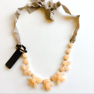 Jcrew nude floral statement necklace