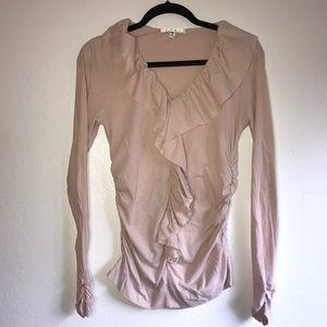 Cabi Size Medium ruffled long sleeve blouse