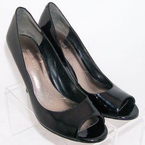 Nine West 'Masquerader' peep toe patent pumps 6.5M