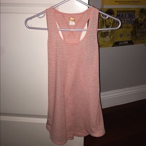 Lucy light pink with white stripes tank top